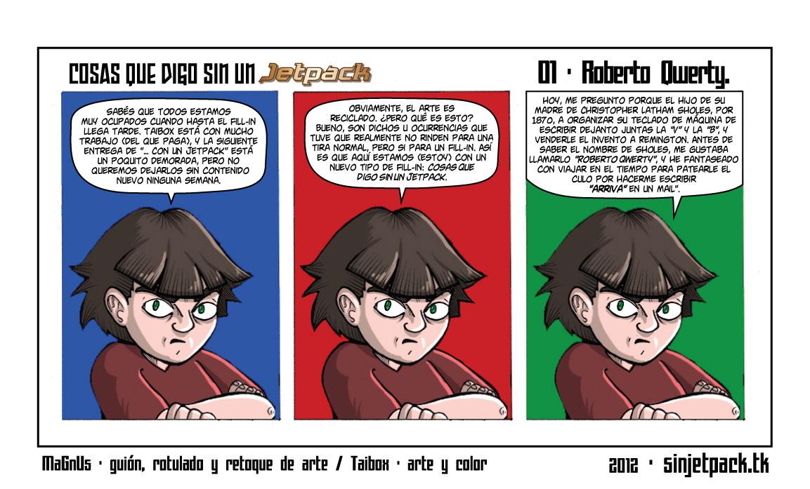 Cosas Que Digo Sin Un Jetpack 01 - Roberto Qwerty.