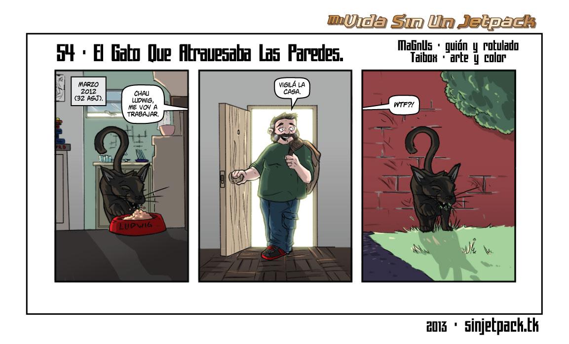 54 - El Gato Que Atravesaba Las Paredes.